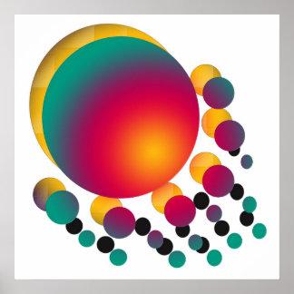Coloured Circles Print