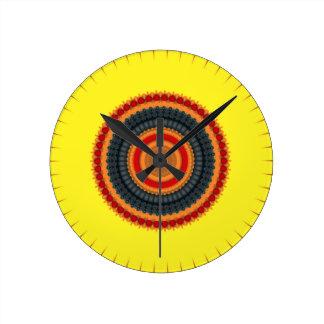 Coloured circles round clock