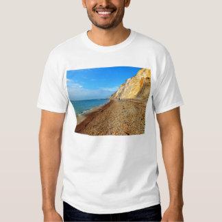 Coloured cliffs and beach at Alum Bay Tshirt