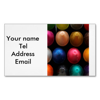Coloured Crayons Magnetic Business Card