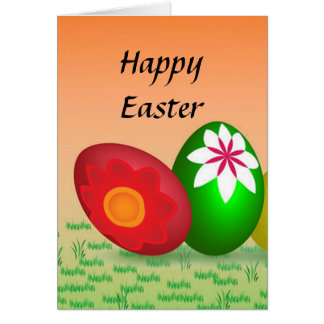 Coloured Eggs Design Stationery Note Card