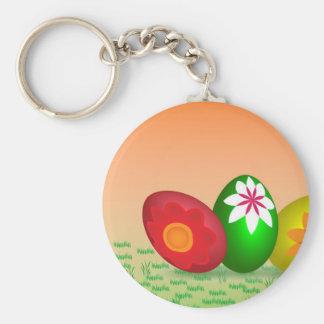 Coloured Eggs Design Keychain