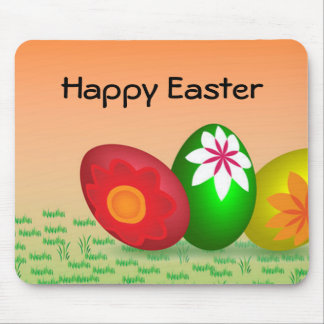 Coloured Eggs Design Mouse Pad