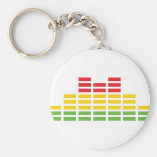 coloured equalizer icon basic round button keychain