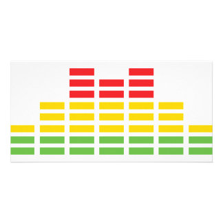 coloured equalizer icon card