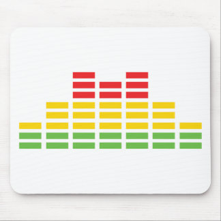 coloured equalizer icon mouse pad