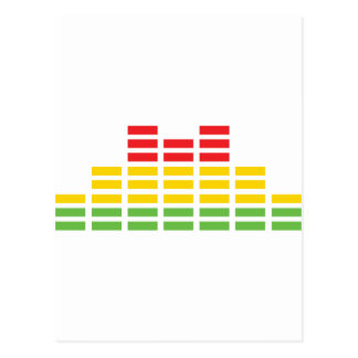 coloured equalizer icon postcard
