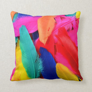 Coloured feathers pillow