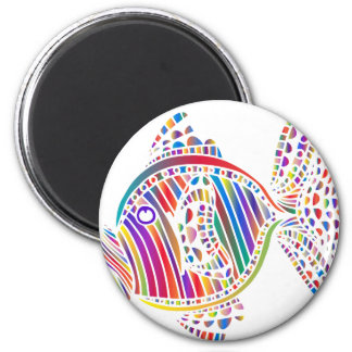 Coloured Fish 2 Inch Round Magnet