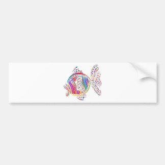 Coloured Fish Bumper Sticker
