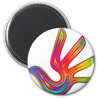 Coloured Flame Design 2 Inch Round Magnet