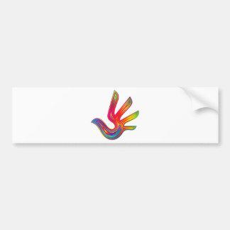Coloured Flame Design Bumper Sticker