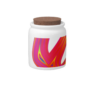 Coloured Flame Design Candy Jar