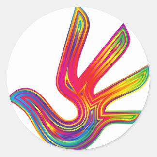 Coloured Flame Design Classic Round Sticker