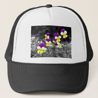 Coloured Flower Design with effect Trucker Hat