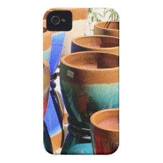 Coloured garden plant pots iPhone 4 case