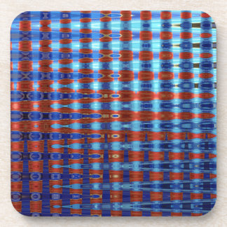COLOURED GLASS 2 BEVERAGE COASTER
