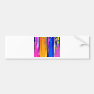 Coloured glass bottles bumper sticker