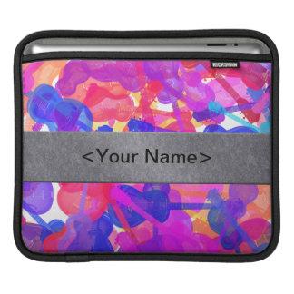 Coloured Guitar Collage MacBook Sleeves