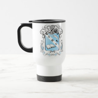 Coloured handle Delta Phi Nu mug