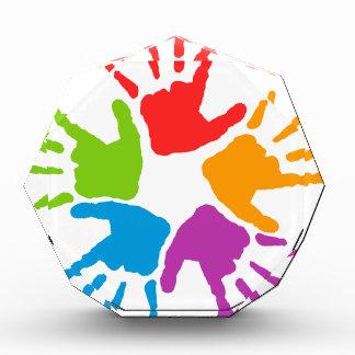 Coloured Hands Acrylic Award