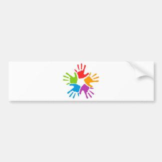 Coloured Hands Bumper Sticker