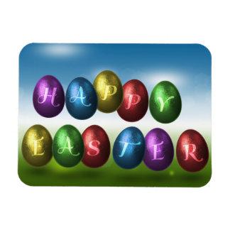 Coloured Happy Easter Eggs - Flexible Magnet