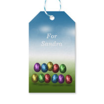 Coloured Happy Easter Eggs - Gift Tag
