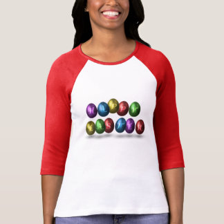 Coloured Happy Easter Eggs - Woman Shirt