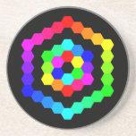 Coloured Hexagon Beverage Coasters