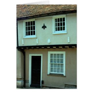Coloured house at Saffron Walden, Essex, UK Greeting Card