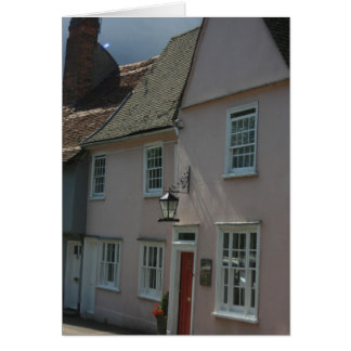 Coloured houses at Saffron Walden, Essex, UK Greeting Card