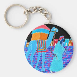 Coloured Illustration of Camel and Arab Stylised Key Chain