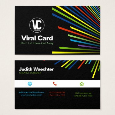 """Professional Business Coloured Lines Business Card Standard, 3.5"""" x 2.0"""""""
