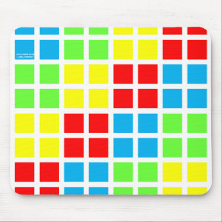 Coloured Optical Illusion Squares Mousemat (white) Mouse Mat