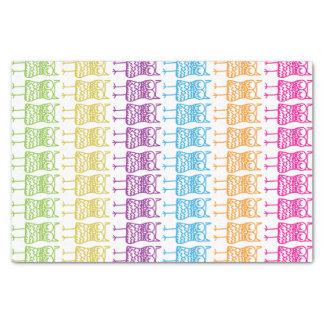 "Coloured Owls Tissue Paper 10"" X 15"" Tissue Paper"