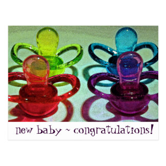 Coloured Pacifiers Postcard