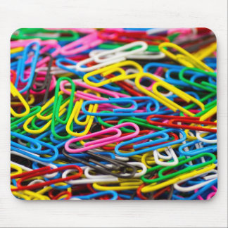 Coloured paperclips Mousemat Mouse Pad