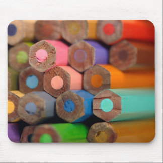 coloured pencil crayons mouse pad