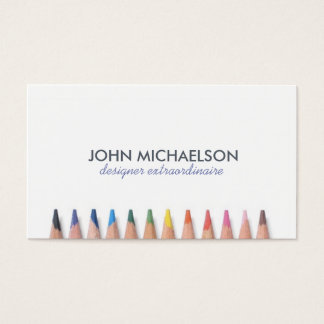 Coloured Pencil Fun Business Card
