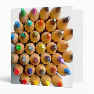 Coloured pencils binder file folder