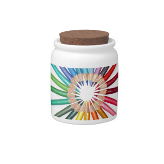 COLOURED PENCILS CANDY DISH