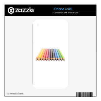Coloured pencils in a rainbow skin for iPhone 4S