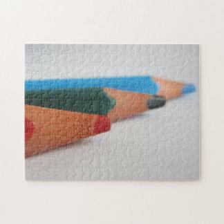 Coloured pencils jigsaw puzzle