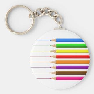 Coloured Pencils Keychain
