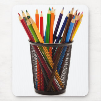 Coloured Pencils Mouse Pad