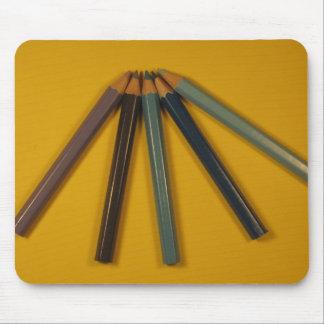 Coloured Pencils Mouse Pads