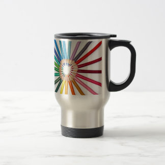COLOURED PENCILS TRAVEL MUG