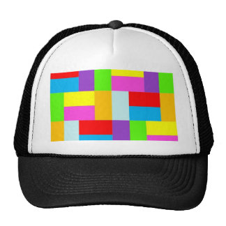 Coloured Rectangles Trucker Hats
