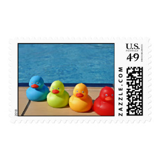 Coloured Rubber Ducks Stamp